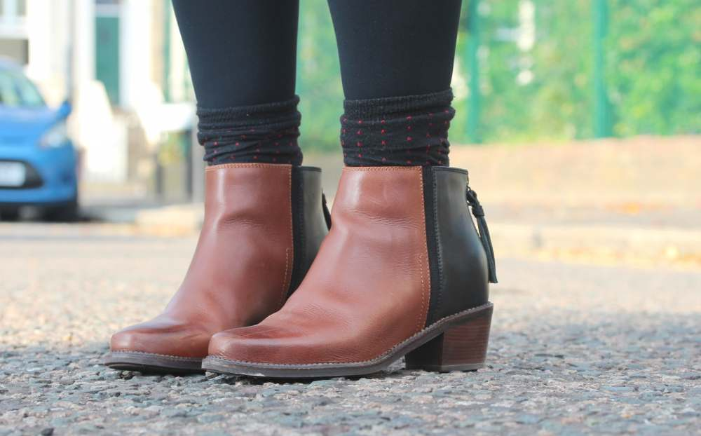 hush puppies boots black and brown corder leather fashion blogger