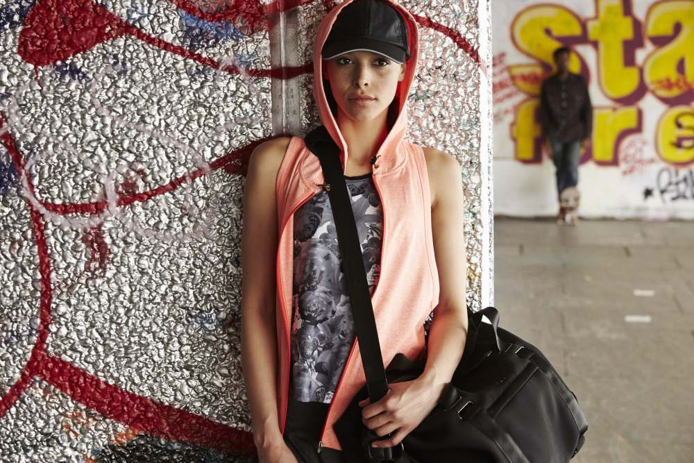 sweaty betty sports luxe orange hoody