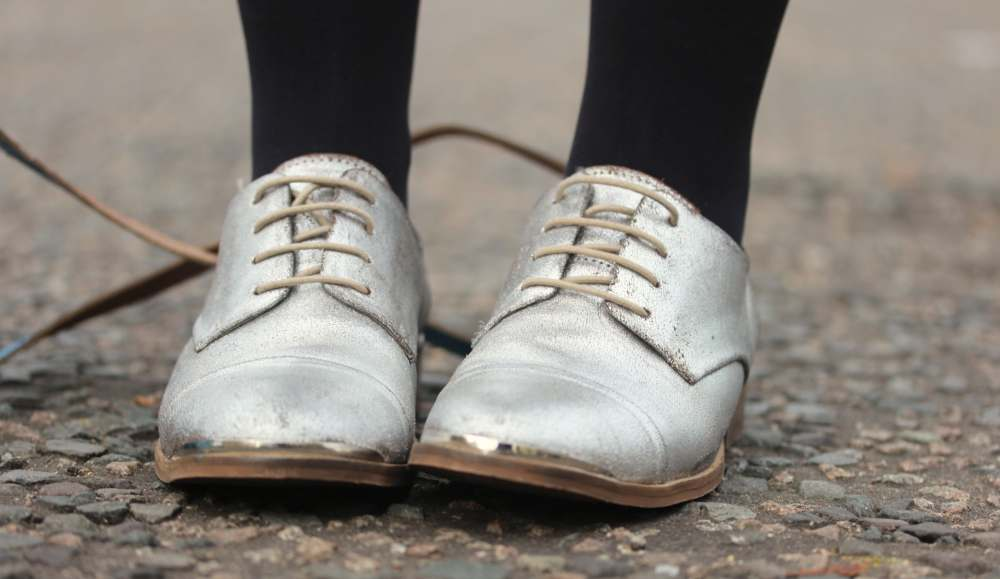 next silver leather brogues shoes metallic fashion blog blogger style personal uk