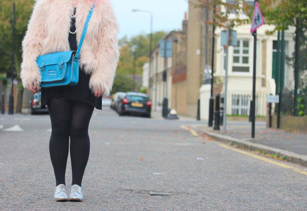 boohoo pink fur coat fashion for lunch sweeties necklace silver next brogues scaramanga satchel tote bag in blue chanel sweets sweeties candy cute rare