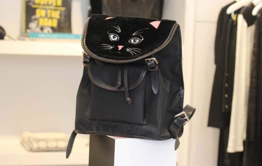 claudie pierlot vivetta backpack handbag designer french cat shaped rucksack back pack cat face fashion blogger street style kitsch