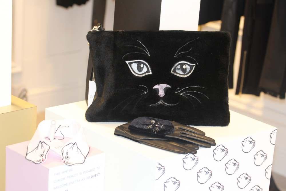 claudie pierlot vivetta cat clutch bag handbag cool fashion blogger gloves