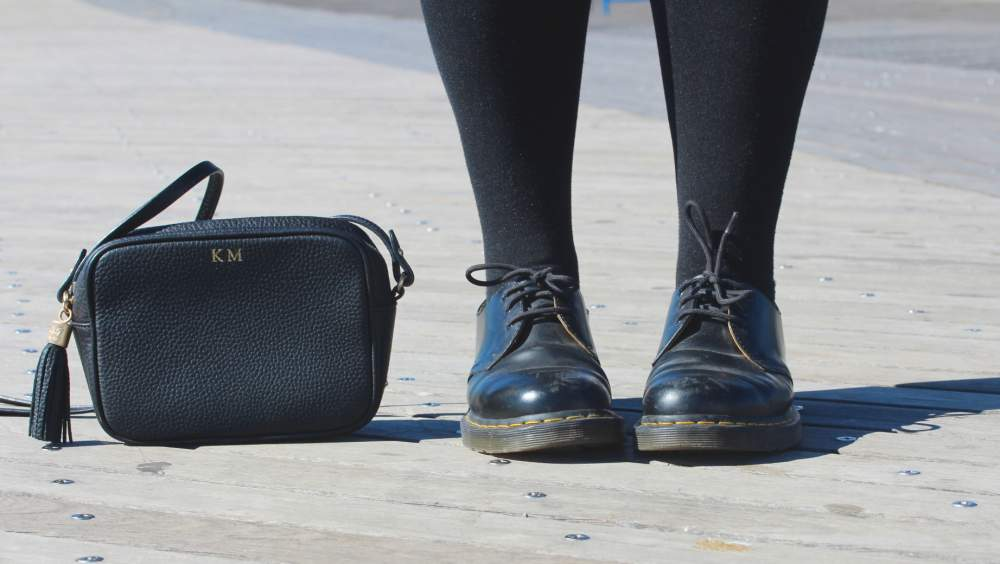 dr martens shoes black indie fashion gigi new york monogrammed handbag charlotte olympia sunglasses feather linda farrow feathers cat eye Swarovski stardust bracelet bracelets bangles jewellery fashion blogger uk personal style best recommended top