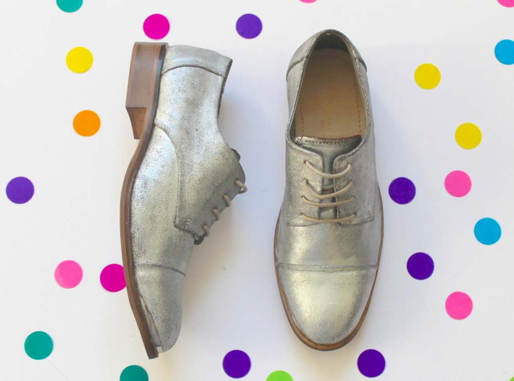 next silver brogue shoes lace up brogues metallic silver british high street fashion blogger