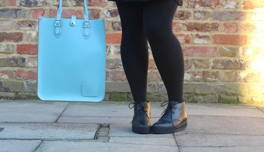 baby blue leather satchel tote bag handbag