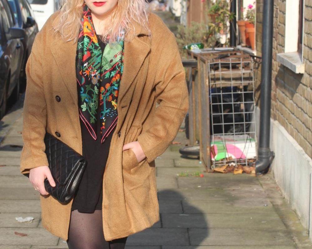 hermes vegetable print scarf fashion blogger