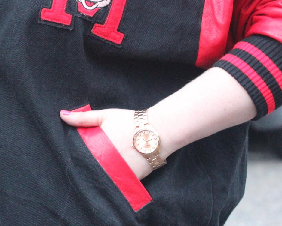 rotary watch fashion blog rose gold fashion blog personal style my style british beauty blog fashion blogger lifestyle ootd wordpress  vintage mickey mouse letterman jacket