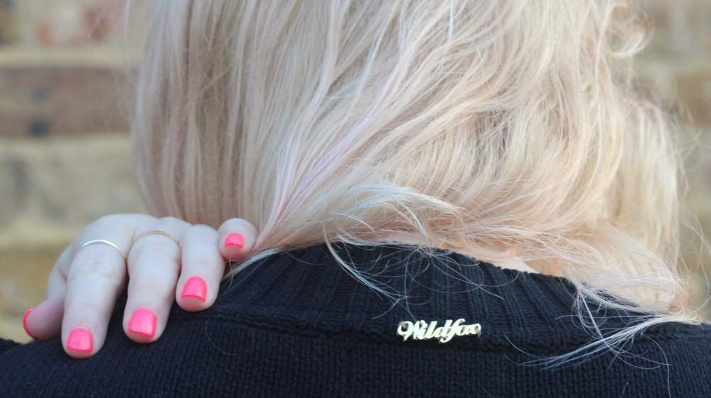 wildfox couture jumper swan back view black cool oversized slouch jumper