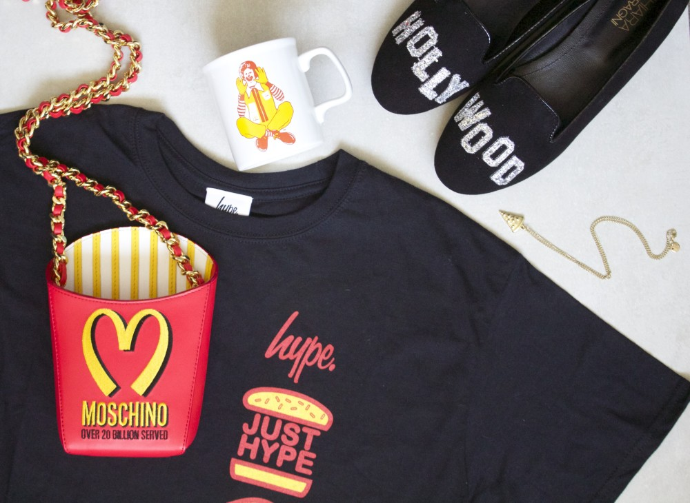 burger themed fashion style mcdonalds jeremy scott moschino cool burger french fries hamburger moschino fashion blogger