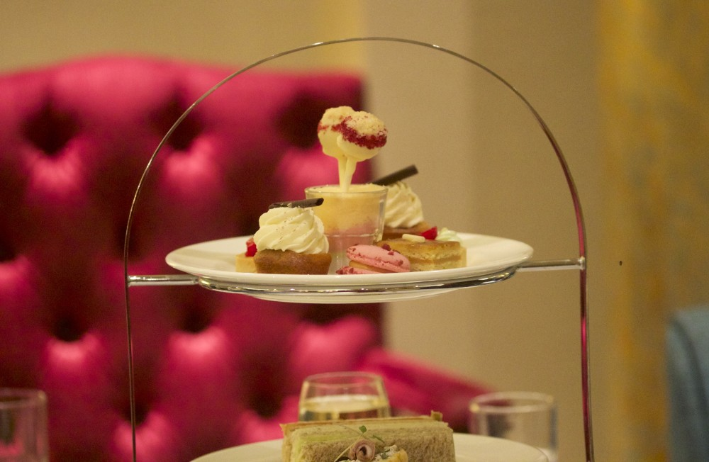 lancaster london hotel afternoon tea tiered cakes