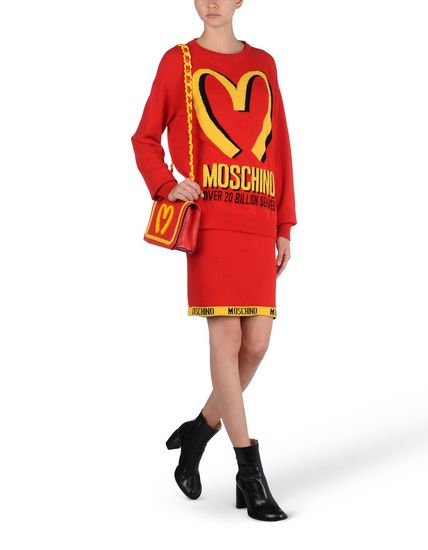 moschino mcdonalds collection uniform fashion chanel style handbag