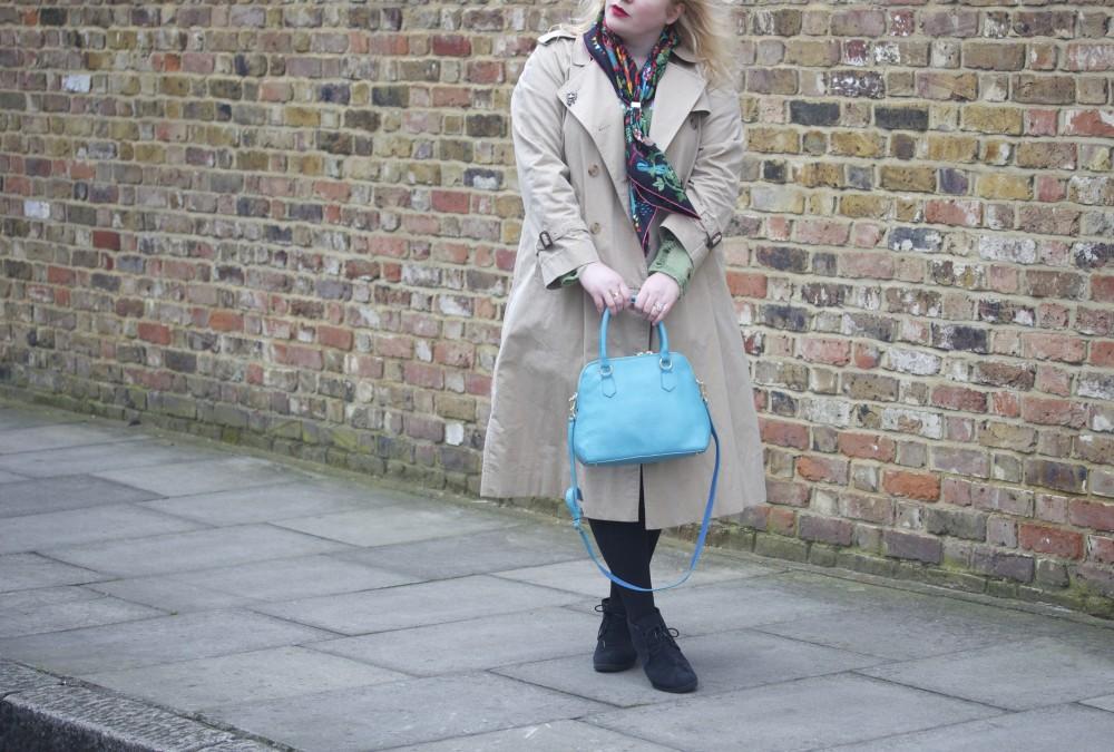 burberry trench coat vintage ootd fashion blogger wordpress blog blogger style