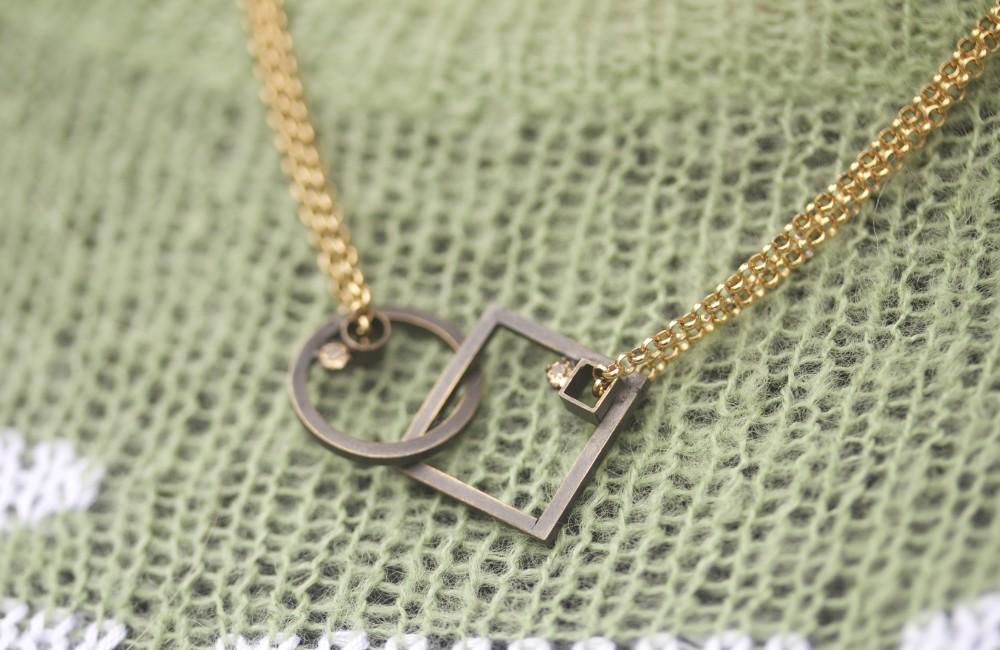 charlotte valkeniers necklace geometric gold