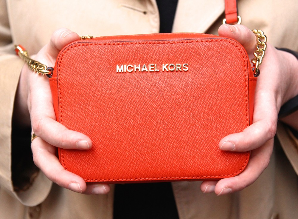 michael kors orange cross body handbag harvey nichols