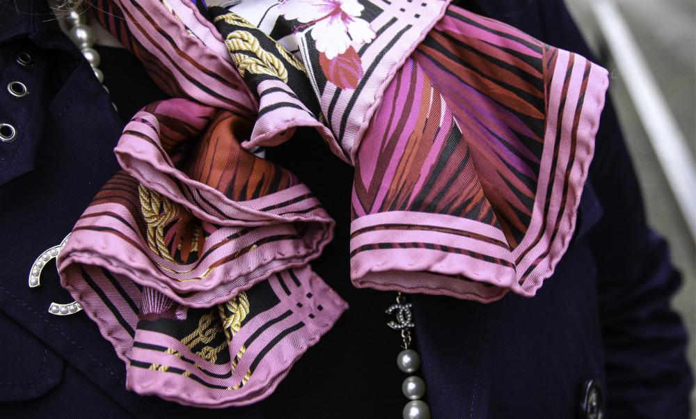 cleo ferin mercury mermaid scarf pink ss15