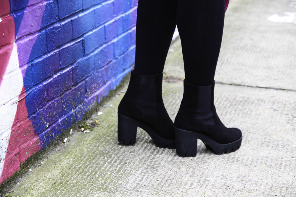 daniel footwear boots chelsea style boots with platform