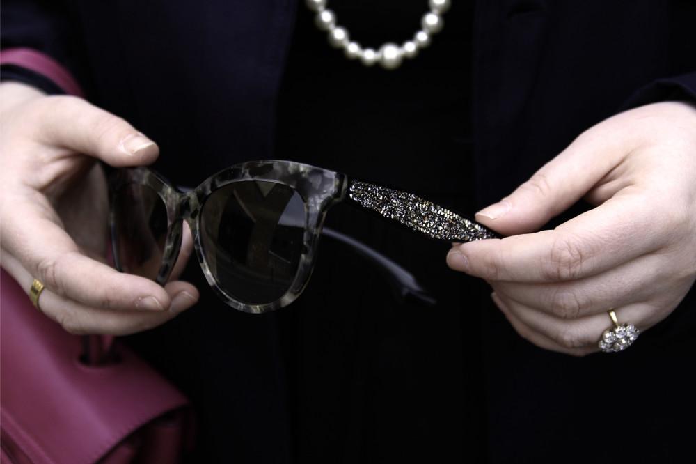 miu miu sunglasses with crystals on the arms tortoiseshell