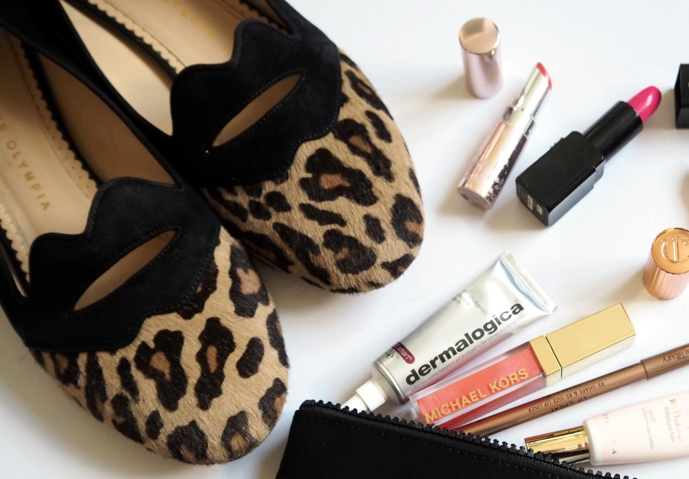 charlotte olympia leopard print shoes lips fashion blogger fashion for lunch blog