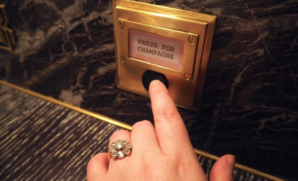 bob bob ricard london press for champagne button buzzer instagram gold