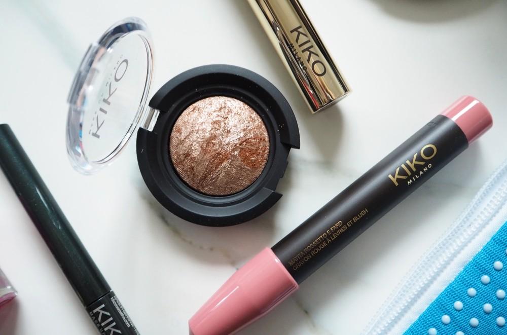 kiko milano make up cosmetics review beauty blogger british  lip marker  eyeshadow rose gold