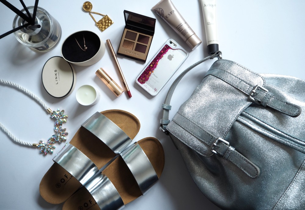 all silver flatlay fashion for lunch boden backpack handbag silver