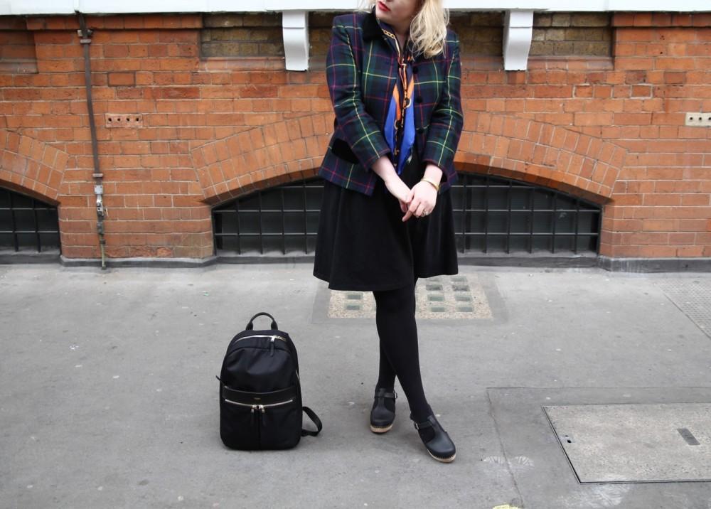 fashion for lunch tartan blaser