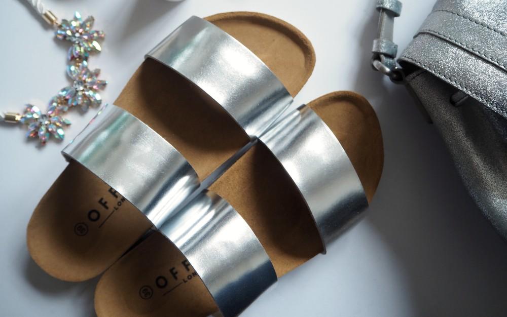 office london shoes silver sliders fashion blogger wordpress