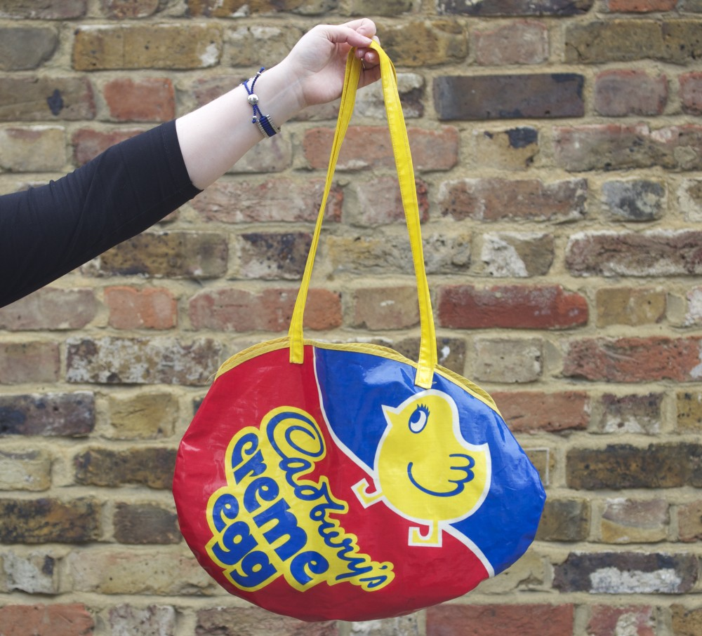 vintage cadburys creme egg handbag 80s novelty cool