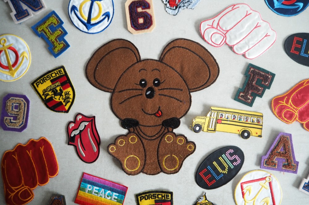 vintage retro novelty cute style sew on craft patches
