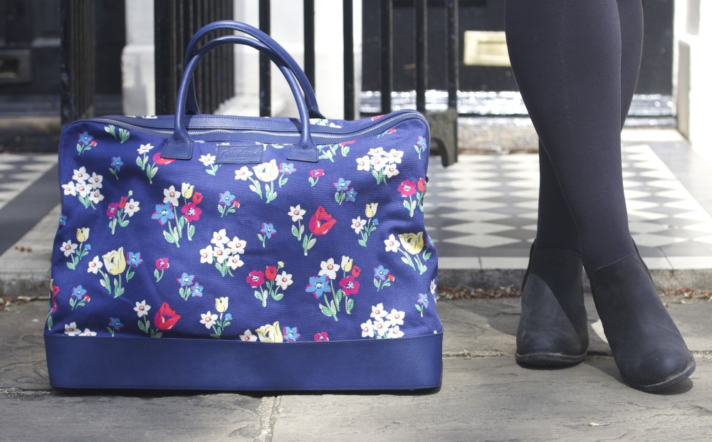 cath kidston floral print handbag overnight travel bag