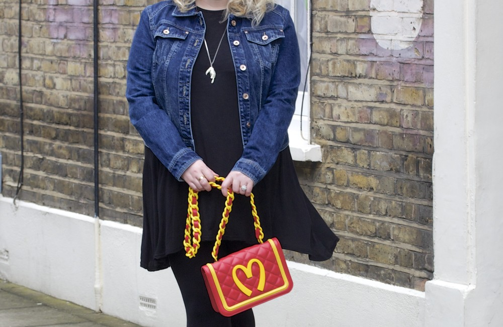 fashion blogger ootd denim jacket next