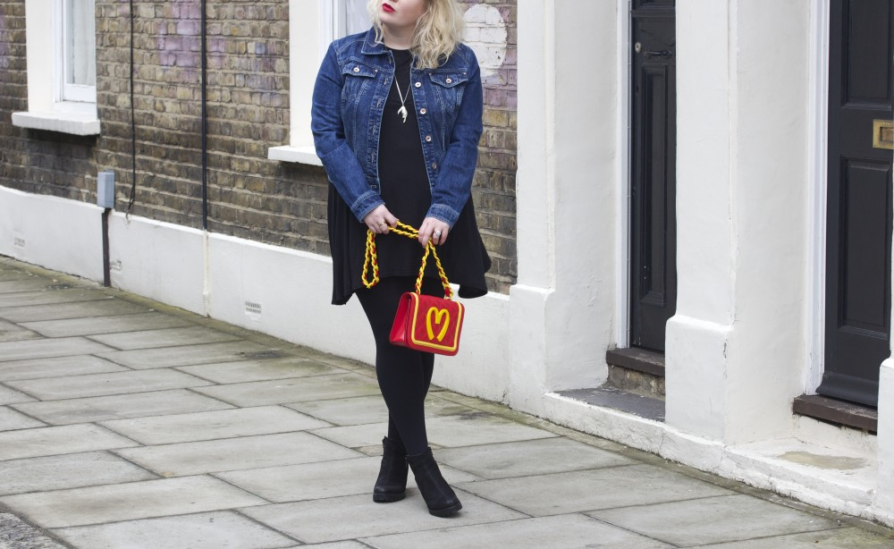 fashion for lunch street style post patched denim jacket with vintage patches