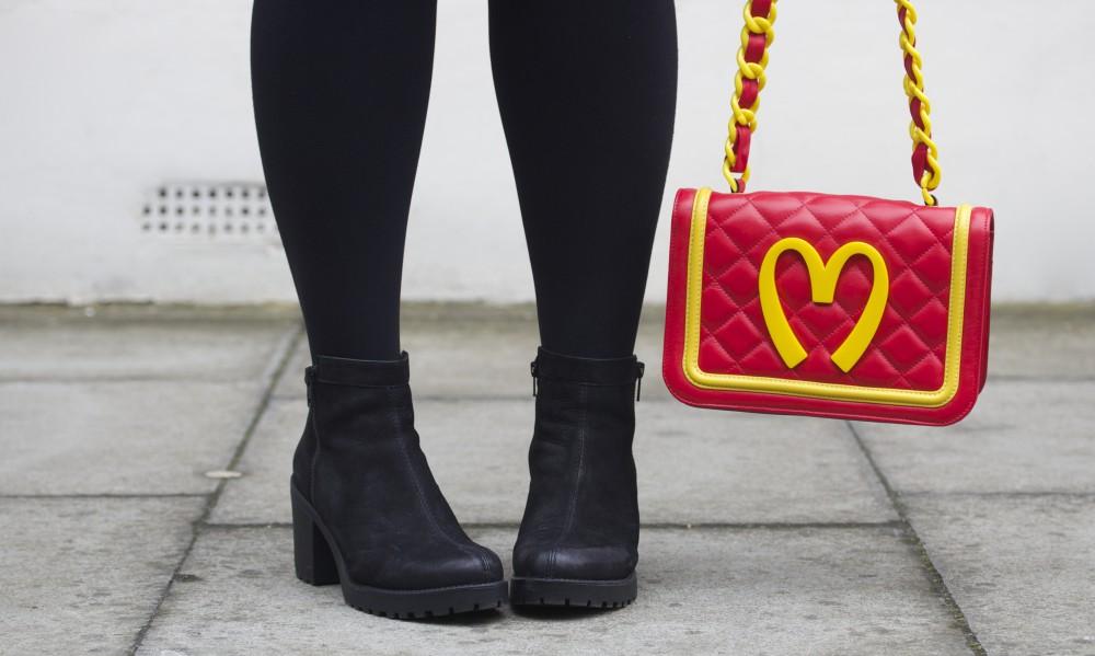 moschino jeremy scott handbag red mcdonalds
