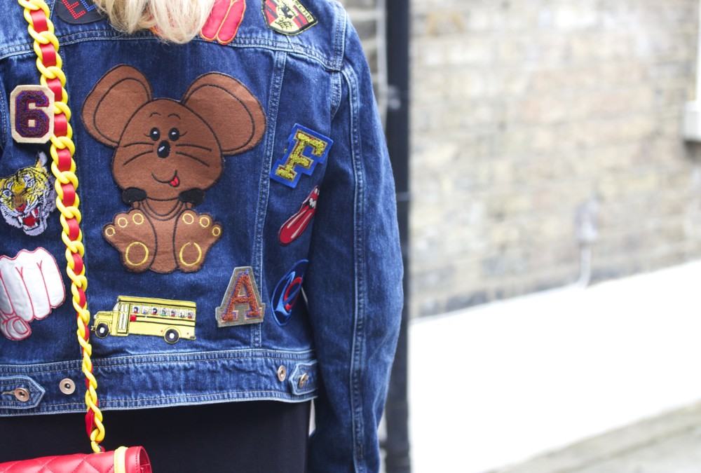patched denim jacket with vintage patches hipster