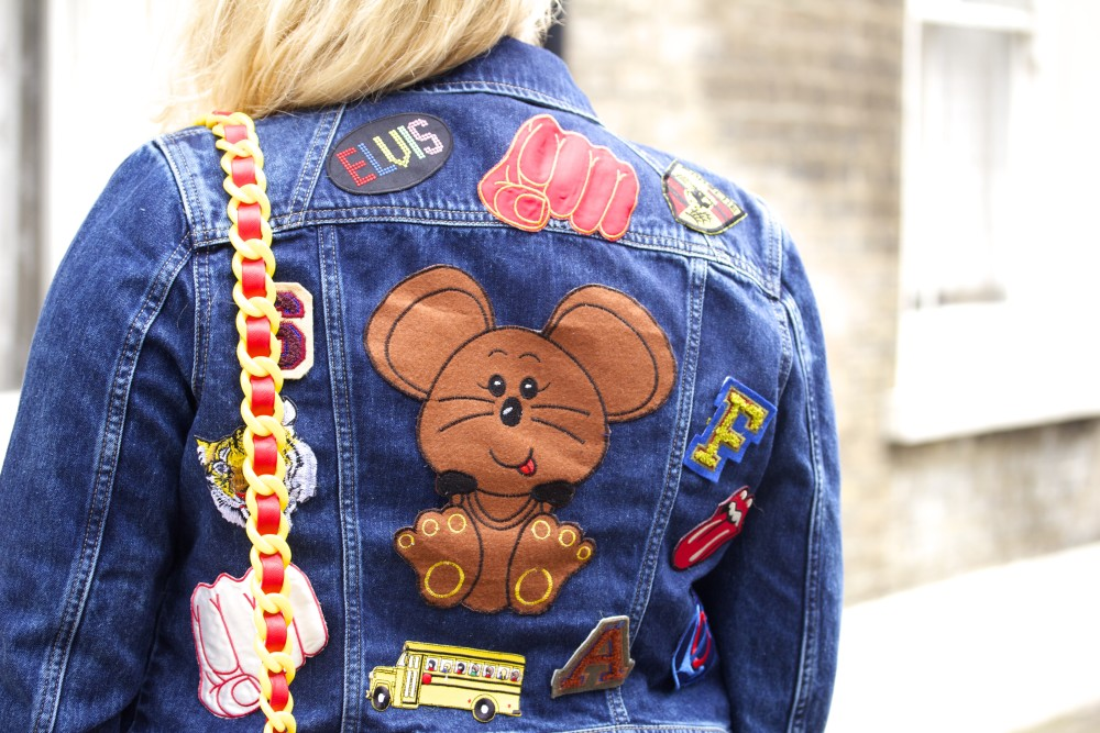 patched denim jacket with vintage patches hipster cute