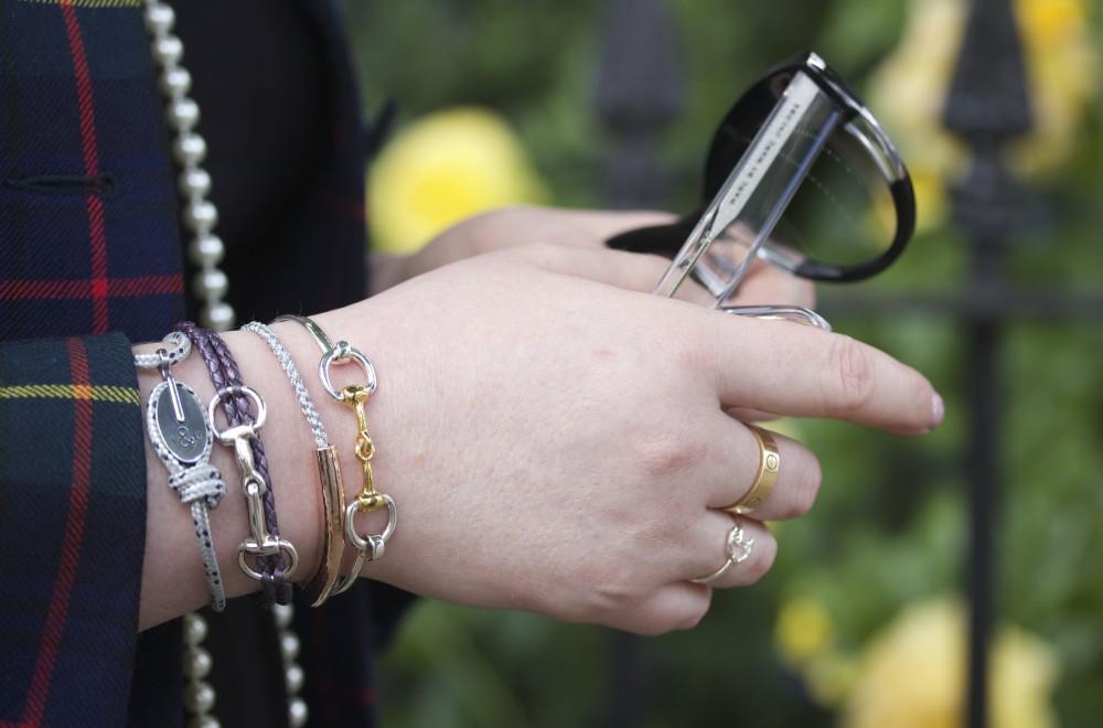 monica vinader bracelet silver metallic engraved hiho silver snaffle bracelet