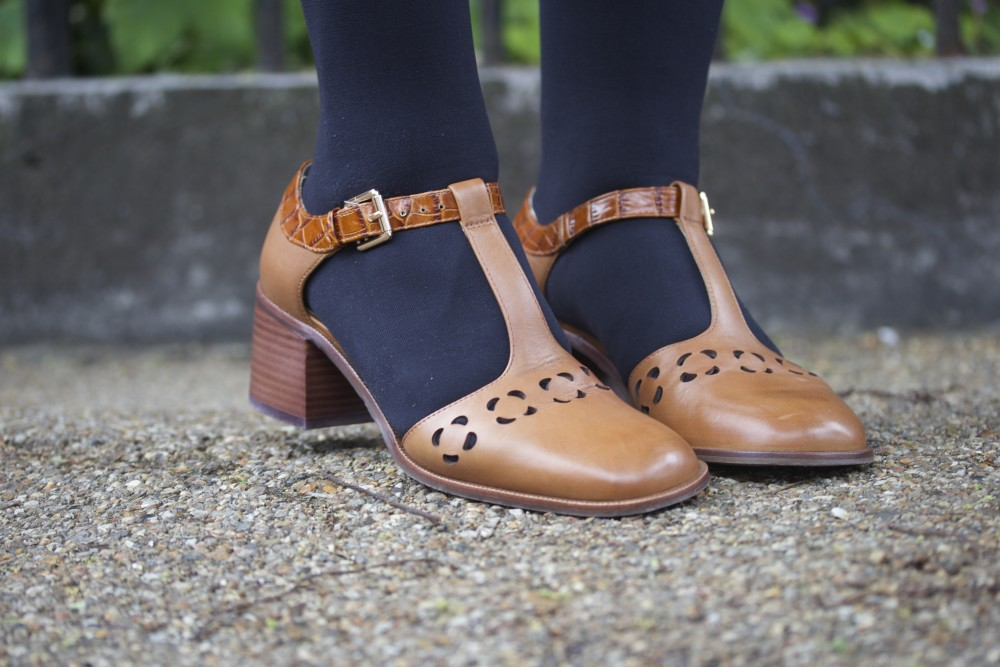 orla kiely for clarks bibi shoes cut out detail flowers