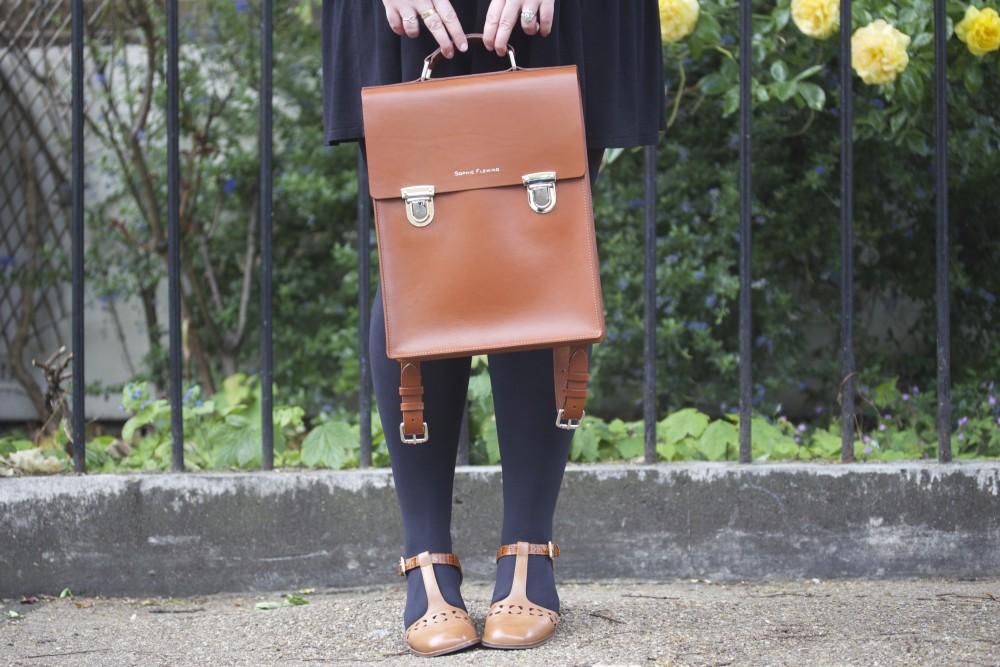 sophie fleming london satchel leather backpack