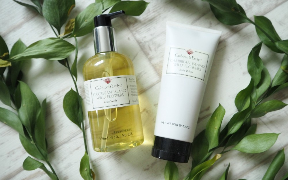 crabtree and evelyn caribbean wild flowers shower gel and body polish