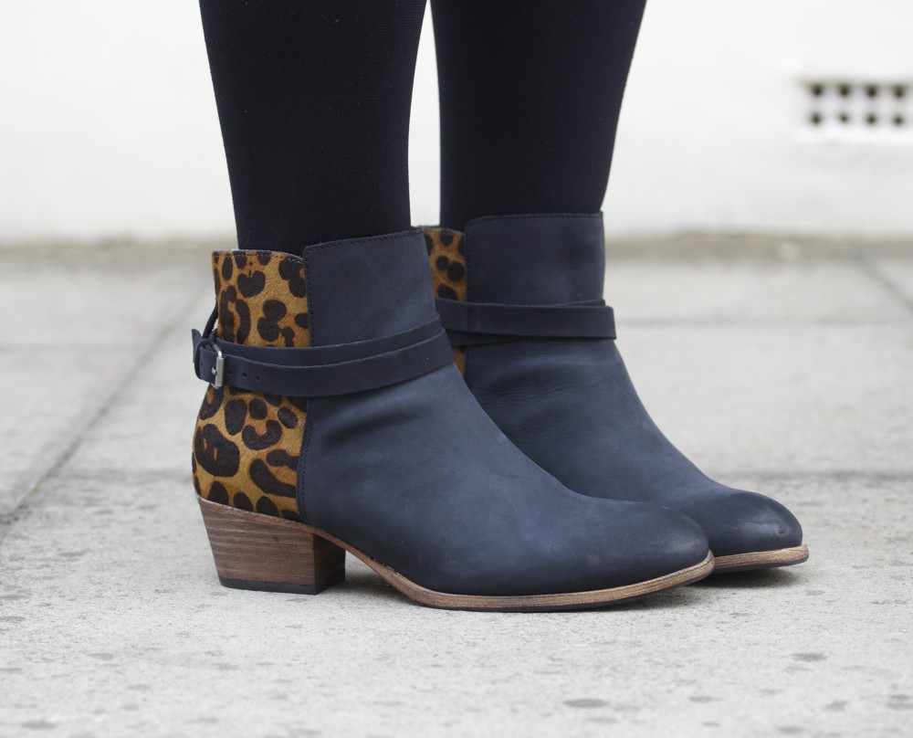 KEIRA BOOT boden leopard print and black boots 2015 new british