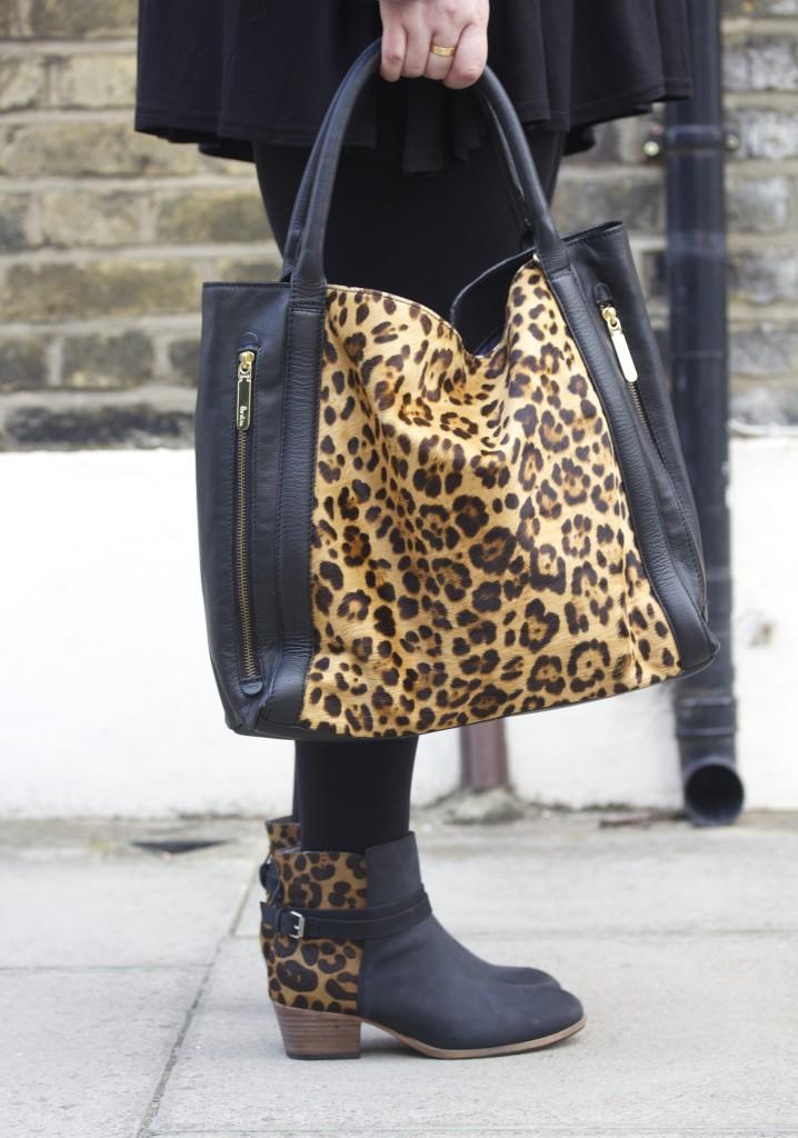 boden leopard print handbag tote bag leather new animal print berkeley zip bag