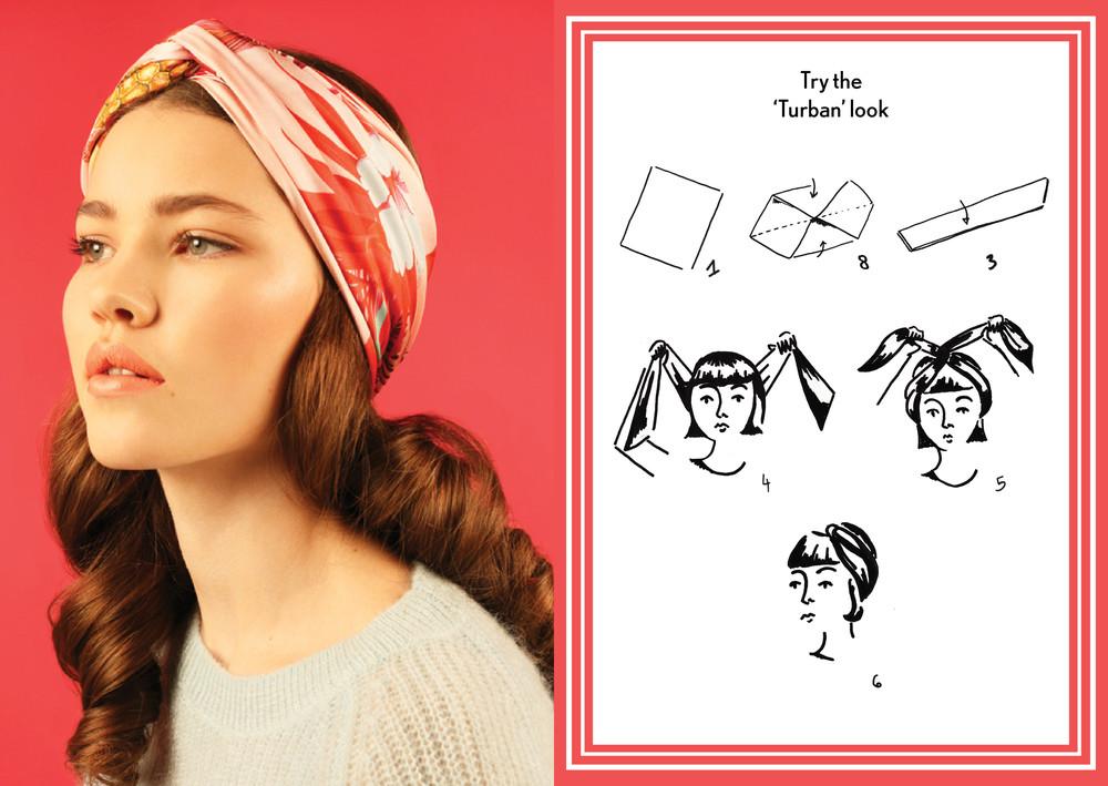 how to wear silk scard