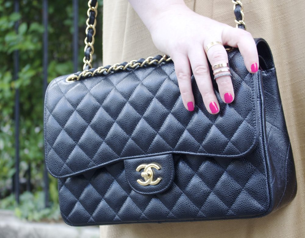 c9bf6ea9e137 Chanel Flap Bag Caviar Or Lambskin. Chanel Vintage Black Quilted Lambskin  Small ...