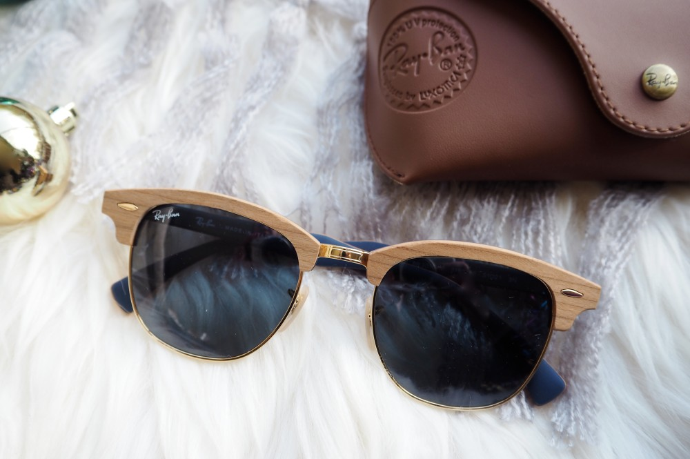 ray ban club master sunglasses clubmaster wood frame