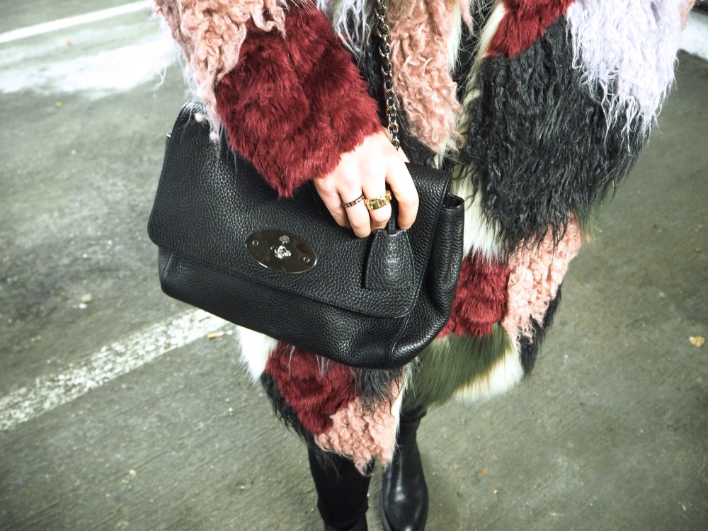 mulberry lilly lily black handbag