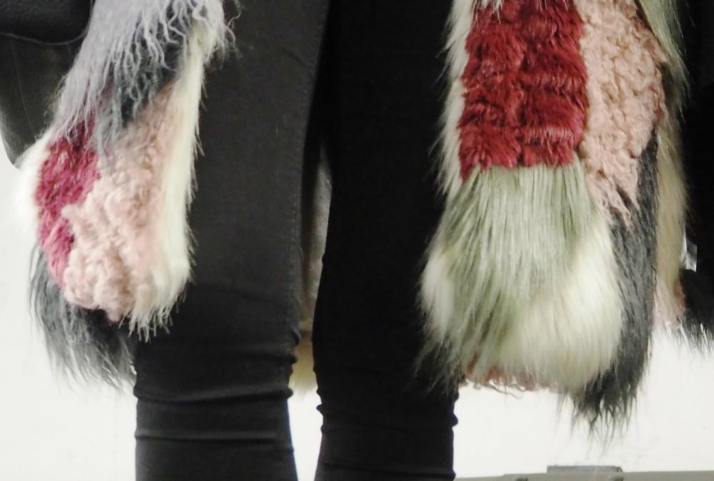 fur jacket coat patchwork 70s asos