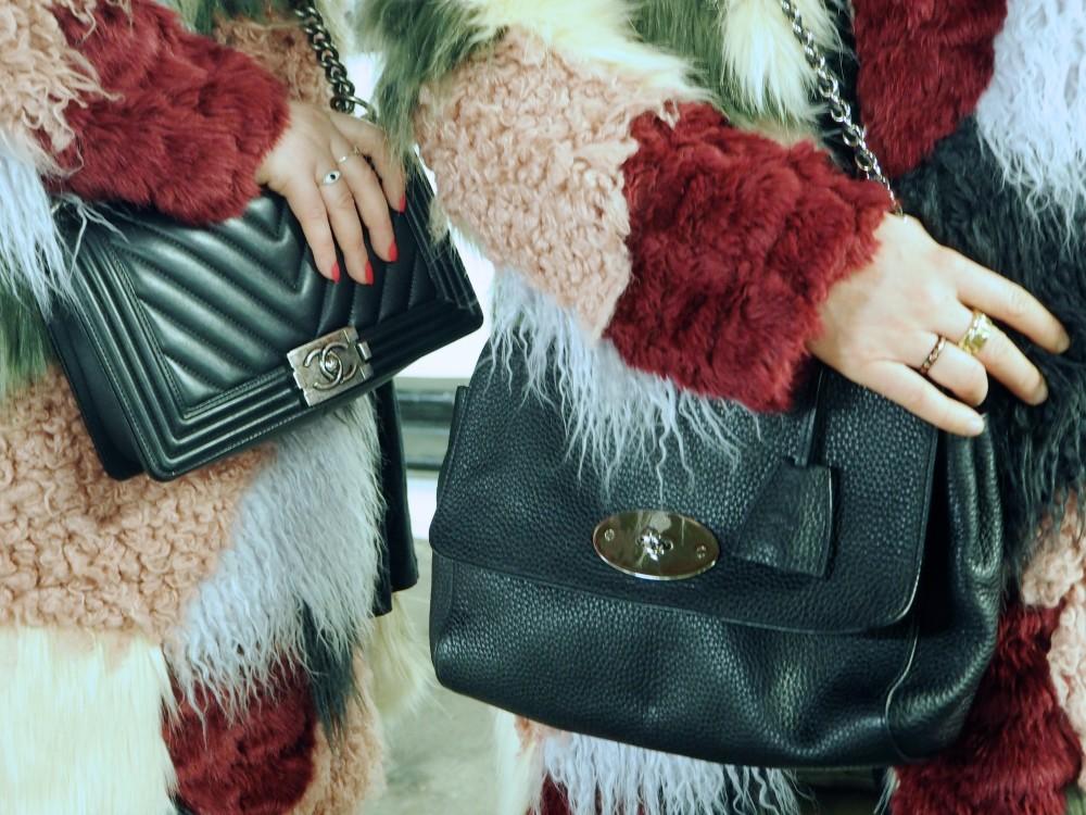 asos fur furry coats patchwork winter multicoloured fur twinning sisters blog blogging bloggers
