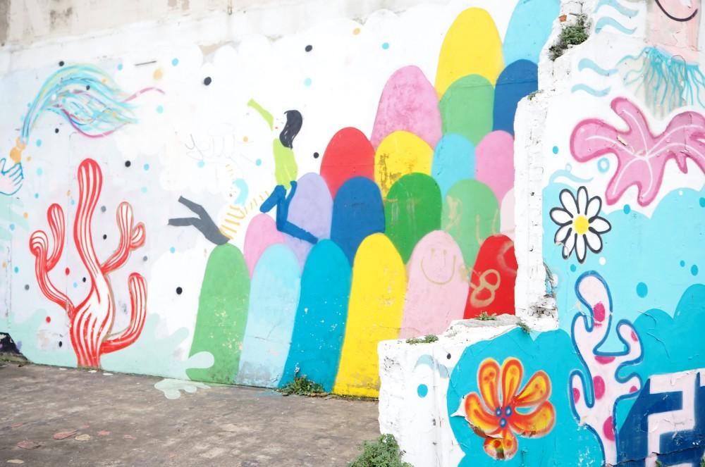 colourful wall graffiti margate