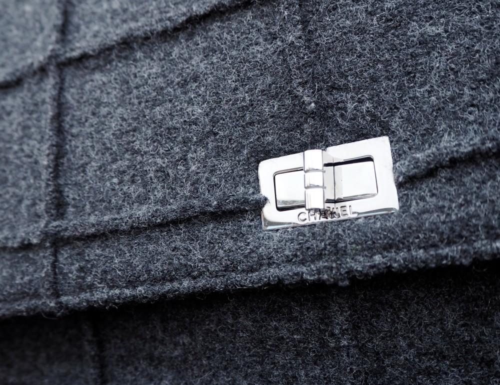 chanel classic 2.55 reissue wool flap chanel handbag
