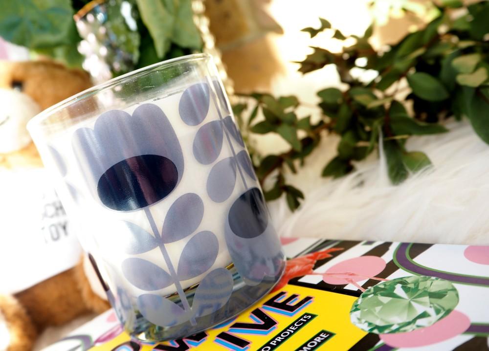 orla kiely blue lavender candle
